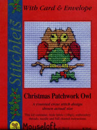 Christmas Patchwork Owl