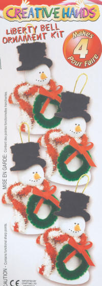 Bell Ornament Kits - Liberty Bell Snowmen