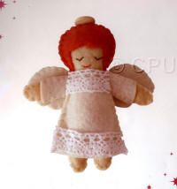 DoCrafts Mini Soft Christmas Kits - Angel with Red Hair