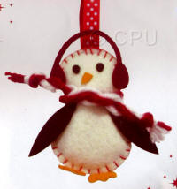 DoCrafts Mini Soft Christmas Kits - Bird with Scarf