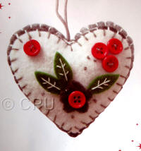 DoCrafts Mini Soft Christmas Kits - Heart