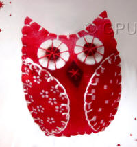 DoCrafts Mini Soft Christmas Kits - Red Owl