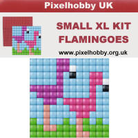 Pixel Hobby - XL Small - Flamingoes