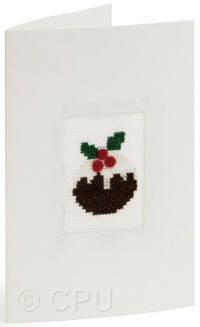 Pudding Counted Cross Stitch Card Kit