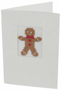 Gingerbread Man Counted Cross Stitch Card Kit