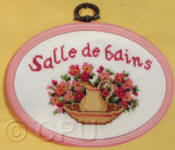 Counted Cross Stitch Kits - Bathroom Plaques